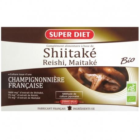 Shiitaké Reishi Maitaké bio Super Diet 20 ampoules v1
