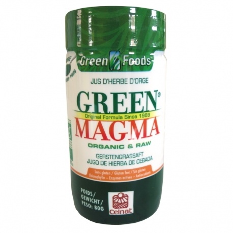 Green Magma poudre de jus d'herbe d'orge Celnat 80 g v1