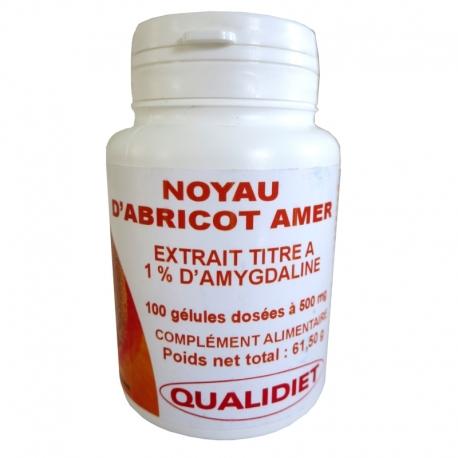 Noyau d'Abricot Amer Qualidiet 100 gélules v1