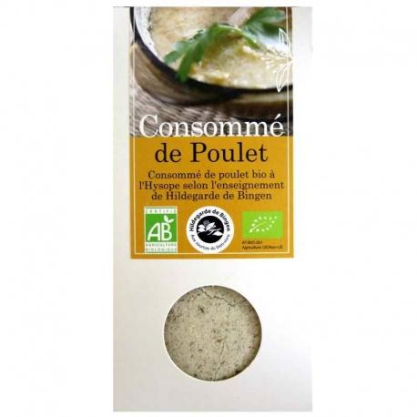 Consommé de poulet bio à l'hysope Aromandise 170 g v1