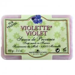 Savon senteur violette Savonnerie du Midi 100 g
