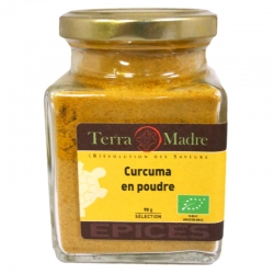 Curcuma bio poudre 90 g Terra Madre v1