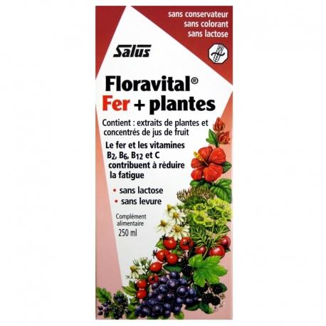 Floravital Fer et plantes sans gluten Salus 250 ml v1