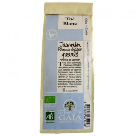 Thé blanc bio Jasmin Phoenix Dragon Pearls Jardins de Gaïa 100 g v1