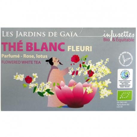 Thé blanc bio Fleuri rose lotus Jardins de Gaïa 20 infusettes v1