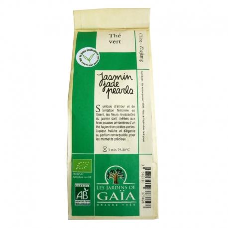 Thé vert bio Jasmin Jade Pearls Jardins de Gaïa 100 g v1