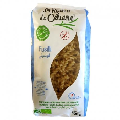 Fusilli sans Gluten riz complet bio Les Recettes de Céliane 500g v1