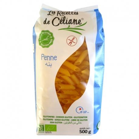 Penne sans Gluten maïs riz bio Les Recettes de Céliane 500g v1
