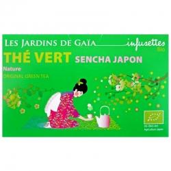 Infusettes de thé vert Sencha Japon Jardins de Gaïa