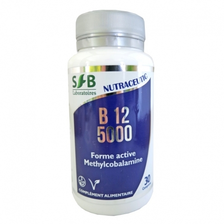 Vitamine B12 5000 Laboratoires SFB Nutraceutic 30 comprimés v1