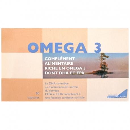Oméga-3 EPA DHA Laboratoire Exopharm 60 capsules v1