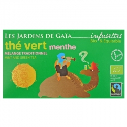 Infusettes de thé vert menthe Jardins de Gaïa