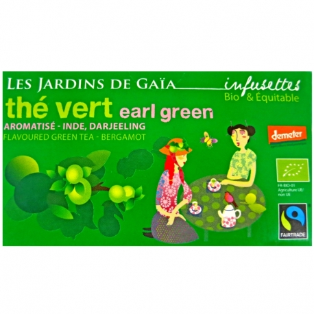 Infusettes de thé vert Earl Green Bergamote Jardins de Gaïa v1