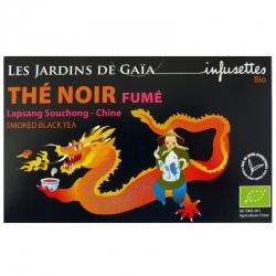 Infusettes thé noir bio Fumé Chine Jardins de Gaïa