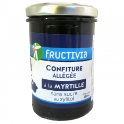 Confiture allégée à la Myrtille au Xylitol Fructivia 250 g