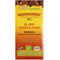 Guayachoc Tablette chocolat noir 70% Warana El Inti Guayapi 100 g