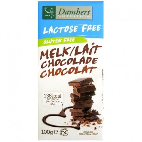 Tablette chocolat lait sans gluten sans lactose Damhert 100 g v1