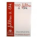 100 filtres à thés jetable en papier non blanchi
