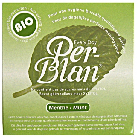 Poudre dentaire Per-Blan menthe