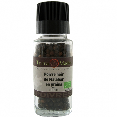 Poivre noir bio grains Malabar Terra Madre v1
