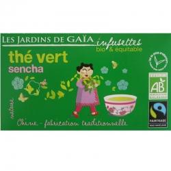 Infusettes de thé vert Sencha Jardins de Gaïa