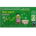 Infusettes de thé vert Sencha Chine Jardins de Gaïa