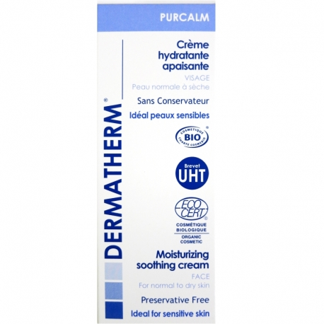 Crème hydratante apaisante Purcalm Dermatherm 50ml
