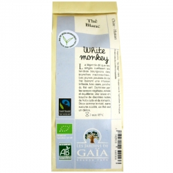 Thé blanc bio White monkey Bai Mao Hou Jardins de Gaïa 50 g