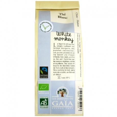 Thé blanc White monkey Jardins de Gaïa 50g