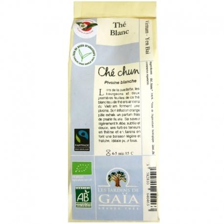 Thé blanc bio Ché chun Pivoine blanche Jardins de Gaïa 50 g v1