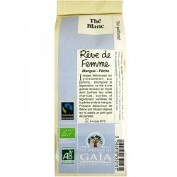 Thé blanc bio parfumé Rêve de Femme Mangue Pêche Jardins de Gaïa 50 g