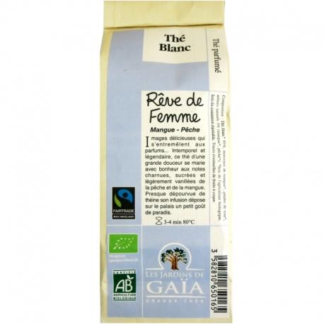 Thé blanc bio parfumé Rêve de Femme Mangue Pêche Jardins de Gaïa 50 g v1