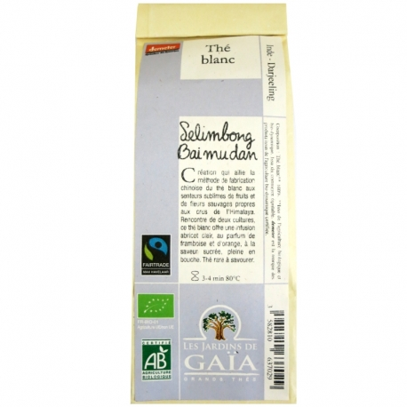 Thé blanc Selimbong Bai mu dan Jardins de Gaïa 50g