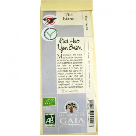 Thé blanc bio Bai Hao Yin Zhen Jardins de Gaïa 50 g v1