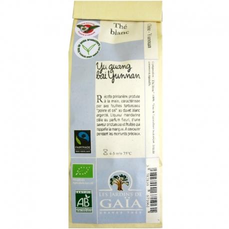 Thé blanc bio Yu guang bai Yunnan Jardins de Gaïa 50 g v1