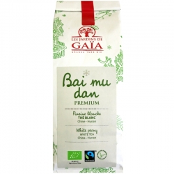 Thé blanc bio Bai Mu Dan Premium Jardins de Gaïa 50 g