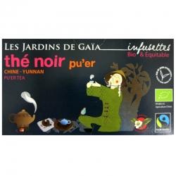 Infusettes thé noir bio Pu'er Jardins de Gaïa