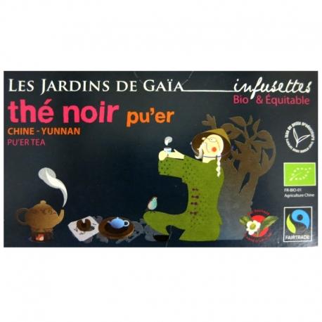 Infusettes thé noir bio Pu'er Jardins de Gaïa v1
