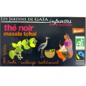 Infusettes thé noir Masala tchaï Jardins de Gaïa