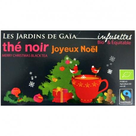 Infusettes thé noir Joyeux Noël Jardins de Gaïa