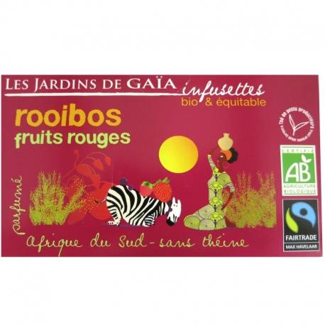 Thé rouge bio Rooibos Fruits Rouges Jardins de Gaïa 20 infusettes v1