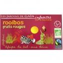 Thé rouge bio Rooibos Fruits Rouges Jardins de Gaïa 20 infusettes
