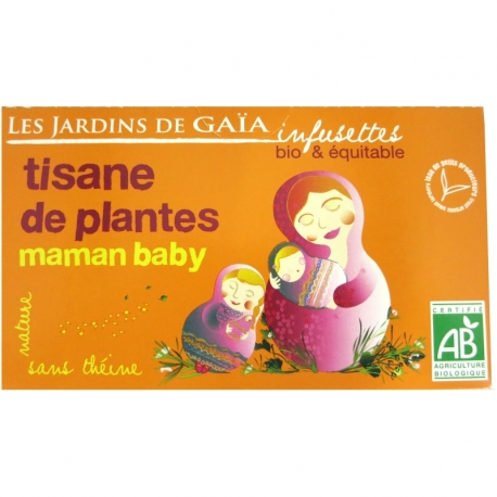 Infusettes tisane Maman baby Jardins de Gaïa