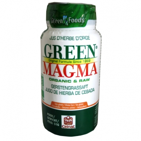 Green Magma poudre jus herbe orge Celnat 136 comprimés v1