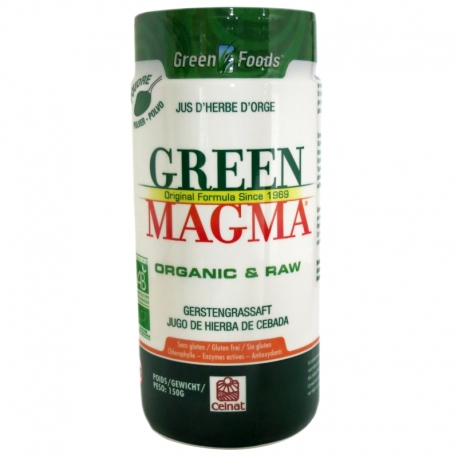 Green Magma poudre de jus d'herbe d'orge Celnat 150g v1