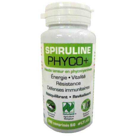 Spiruline bio Phyco+ LT Labo 200 comprimés v1